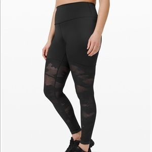 New Lululemon Sheer Will High-Rise Tight Camo 28""
